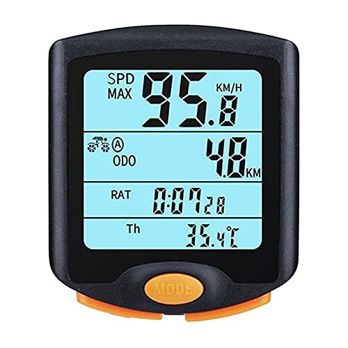 BESISOON Ordenador De Ciclismo con GPS Bicicleta Velocímetro Odómetro Ciclismo Multifunción Impermeable Ordenador De Bicicleta 4 Líneas Pantalla De Línea con RetroiluminaciónPortátil para Escalada