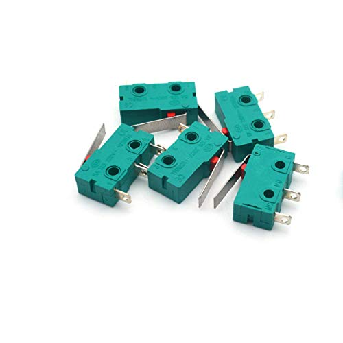 Antrader KW4-3Z-3 Micro Switch KW4 Limit Switch 3pin 5A 125V Hinge Lever DC N/O N/C Switches for Mill CNC, Pack of 5