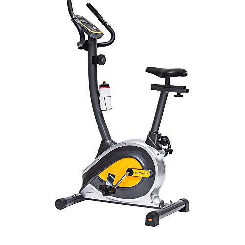 TechFit B400 Magnetic Fitness Exercise Bike, Weightloss Resistance Cardio Machine with Adjustable Saddle, Pulse Sensors and LCD Monitor