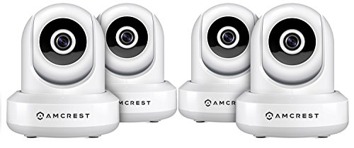 Price comparison product image 4-Pack Amcrest ProHD 1080P WiFi Wireless IP Security Camera - 1080P (1920TVL),  IP2M-841 (White)