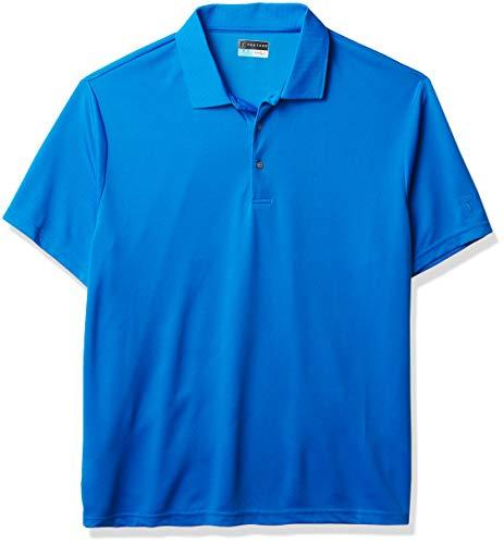 PGA TOUR Men's Big & Tall Golf Airflux Short Sleeve Solid Polo Shirt, Blue Sea Star, 2X Large