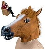 Suneast Novelty Pferdemaske Latex Gummi Tier-Masken Pferdekopf-Masken Halloween-Kostüm...