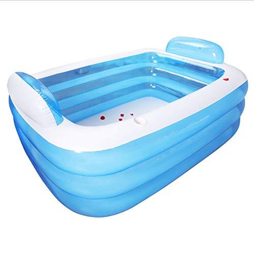 Joy-Beau Faltbare badewanne aufblasbare badewanne für Erwachsene warm halten Schwimmbad badewanne mit luftpumpe badewanne180cm / 150cm