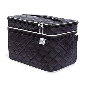 Beauty Shopping Ellis James Designs Large Travel Makeup Bag for Women – Black Make Up Bag for