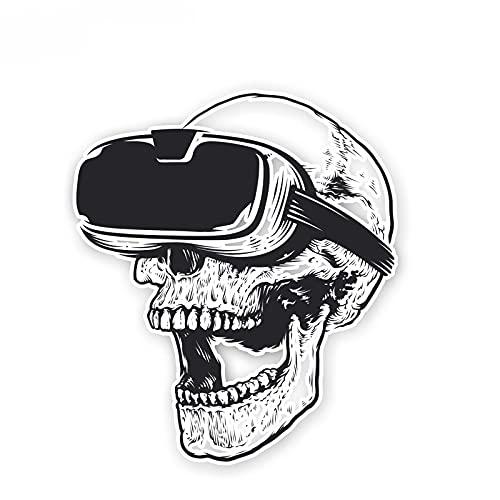 YLZH Pegatina de coche de color 11,5 cm x 13,3 cm gafas creativas cráneo PVC
