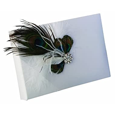 Ivy Lane Design Peacock Collection Guest Book, White