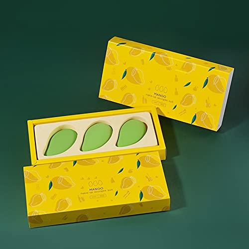 WANZPITS Kit De Esponjas De Maquillaje De 3 Paquetes, Maquillaje De Belleza Profesional Esponja Mixta Mojada Y Seca, Utilizada para La Base Líquida Y Crema Y Polvo,Verde