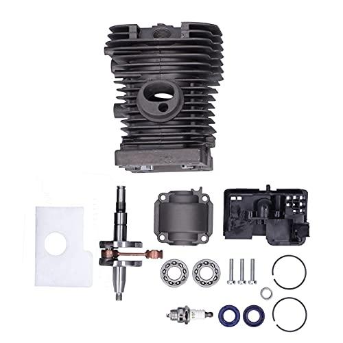 GAESHOW 38 mm Cilindro pistón cigüeñal Motor Pan Kit Apto para Stihl 018 MS 180 motosierras