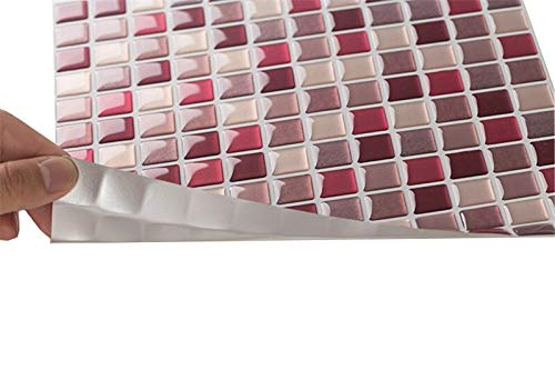 AIREQN Teja 10pcs Pared de la Cocina Pared Decaks la decoración del Arte fácil quitan decoración de la Pared Decoración 9.3'X9.3 Pegatinas de Pared (Color : YJC0019)