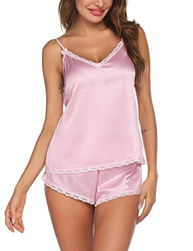 Ekouaer Women Pajamas Set Shorts Modal Camisole Short Sets Sleepwear