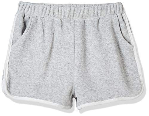 Kid Nation Girls Elastic Sport Retro Shorts Gray M