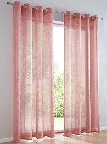 Dekostore, Farbe Lachs, 1 Stück, Heine Home, 622 - Gardinen, Größe: ca. H/B: 175x140 cm, mit Ösen