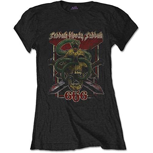 T-Shirt # Xxl Black Femmina # Bloody Sabbath 666