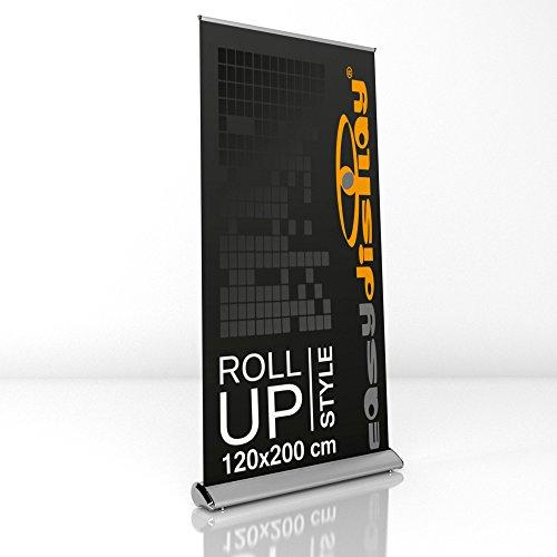 Design Roll Up Display 120x200cm inkl. Druck, Werbeaufsteller RollUp Style, Displaybanner