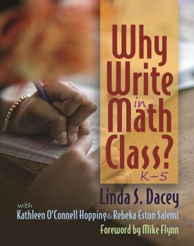 Why Write in Math Class?