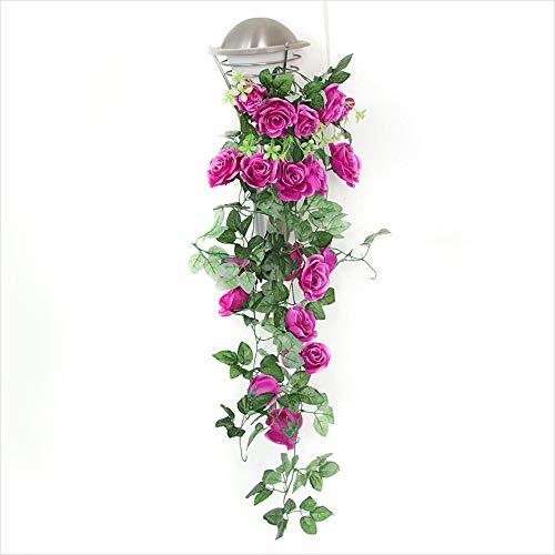 1 pakket simulatie kunstbloem roos rotan bloem muurbehang namaakrotanbloem woonkamer indoor huwelijksdecoratie vakantie plafond kunststof bloem wijnstokken lila