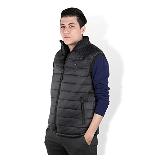 OUTCOOL Men's Heated Vest Light Weight Insulated Heating Vest (Type:NMJ1803)(M) Black