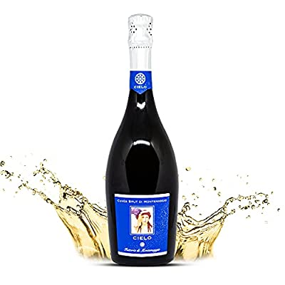 Montemaggio - Elegant Sparkling White Wine   Cielo di Montemaggio   Italian Wine Bottle   100% Chardonnay   IGT Tuscany   Vintage Grape Wine   Organic and Rich in Flavor   Gift for Wine Lovers   0.75L