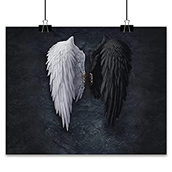 Canvas Painting Print Decorative Painting Black And White Wings Fallen Angel Movie Posters And Prints Angels And Demons Canvas Painting Wall Artwork Room Decoration Pictures wall decor posters art pri