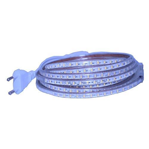 Tiras de luces LED SMD3014 Tira de luz LED AC220V 120led / M Garland Tape IP67 Tira de luz LED impermeable + Enchufe de la UE Tira de luz LED para exteriores