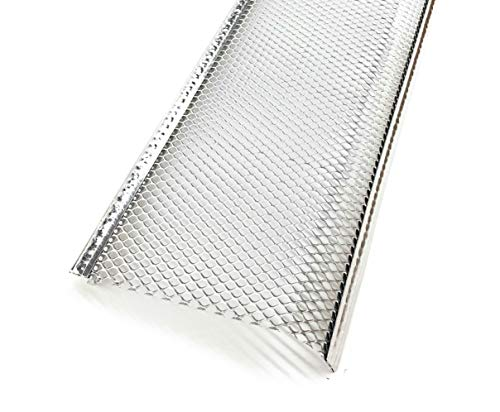 Aluminum Speed Screen Leaf Guard for Gutters (5 INCH, Mill Finish-CASE(5))