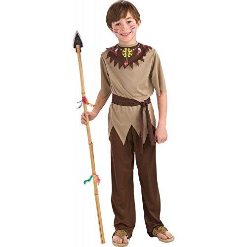 Folat 21685 Native American Combinaison de Guerrier Enfant (3 Pièces, Taille 116–134, Medium)