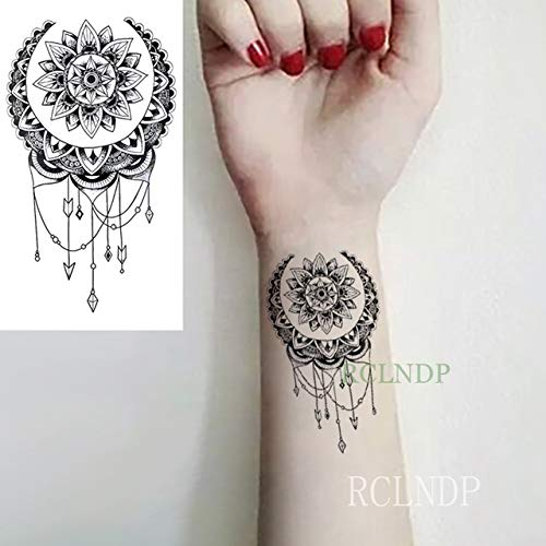 5pcs Impermeable del Tatuaje Pegatinas Lotus Totem Dreamcatcher ...