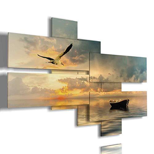Quadri Moderni Soggiorno Quadro Mare Moderno 3D multilivello