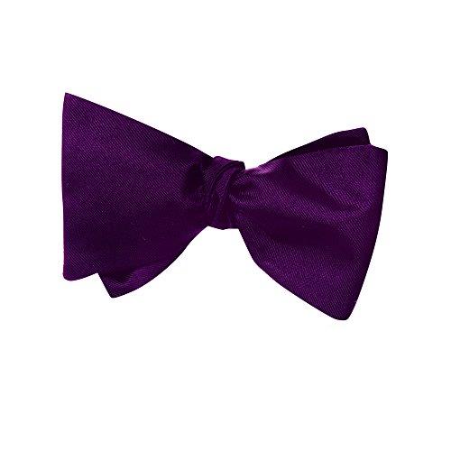 VON FLOERKE Fliege zum Selbst-Binden/Querbinder aus Seide (100%) / handgenähte Anzug-Fliege für Herren mit verstellbarem Hakenverschluss/Violett