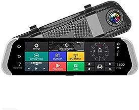 TOOGOO 10 Inch 3G Car Rearview Mirror Dvr Camera Dual Lens Android 5.1 Dash Cam App Adas Warning Bluetooth Dual Lens G-Sensor Dvr
