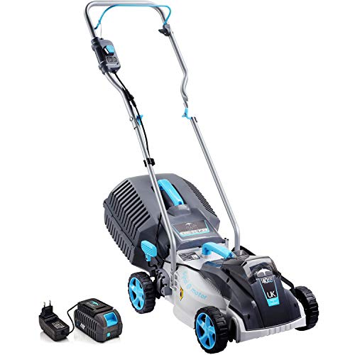SWIFT 40V Cordless Lawn Mower Hand Propelled Lawnmowers with Battery and Charger (Tool + 2 x Battery...