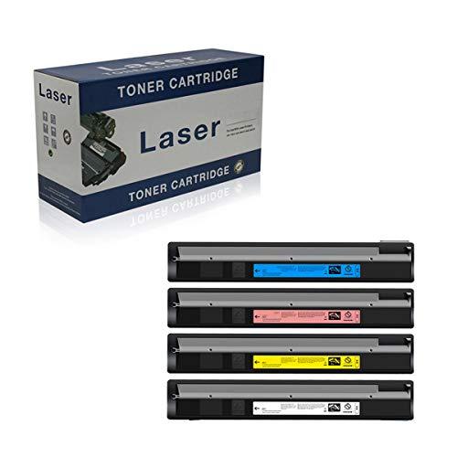 Compatible Reemplazo Cartuchos De Tóner para Toshiba T-FC30-T T-FC30C FC30K T-FC30Y T-FC30M para Su Uso con Toshiba E-Studio 2050C 2051C 2550C 2551C -(Capacidad Estándar), 4-Pack,4p