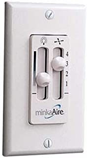 Minka-Aire WC106-WH, 4 Speed Wall Mount Fan Control with Dimmer