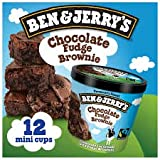 Ben & Jerry's - Vermont's Finest Ice Cream, Non-GMO - Fairtrade - Cage-Free Eggs - Caring Dairy - Responsibly Sourced Packaging, Chocolate Fudge Brownie, 4 Oz. Mini Cups (12 count)
