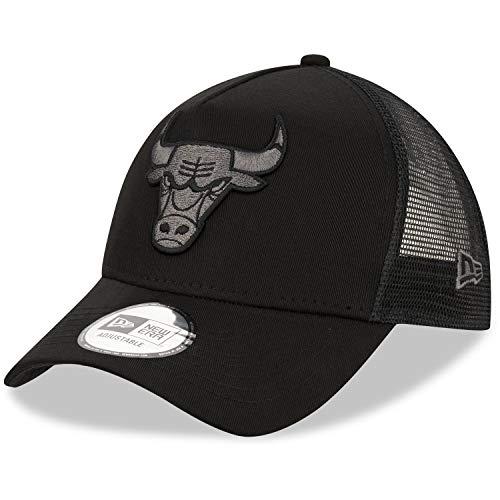 New Era Gorra para Hombre Bob Team Logo 940 A Frame Trucker Chicago Bulls, Color Negro, OSFM