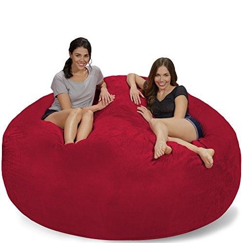 Chill Sack Bean Bag Chair: Giant 7' Memory Foam Furniture Bean Bag - Big Sofa with Soft Micro Fiber Cover - Cinnabar Micro Suede