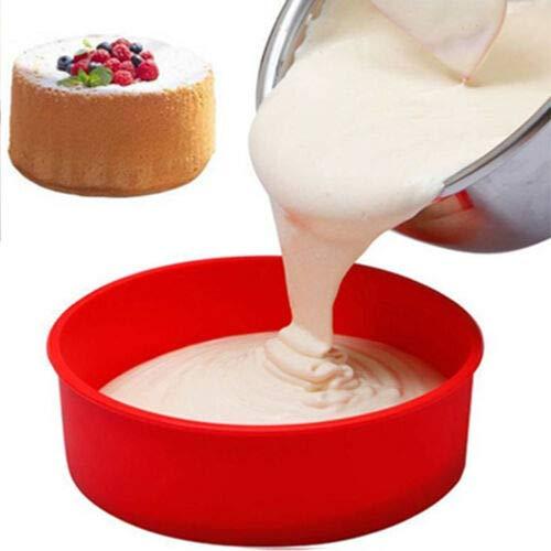Molde Redondo de Silicona para Tartas y Bizcochos Repostería Pastel y Pan con Diametro de 6