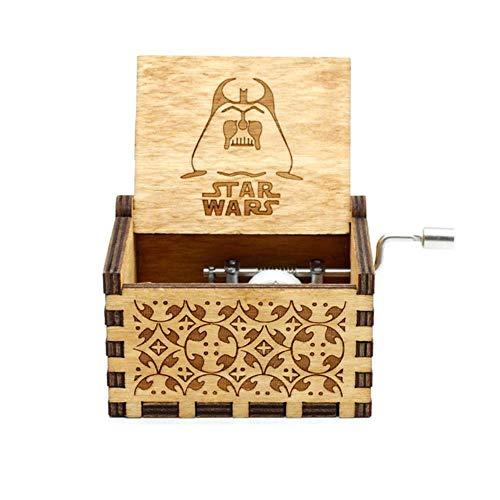 DXR en Bois à manivelle Jeux de trhones boîte à Musique château Musique Cadeau de Noël, Star Wars