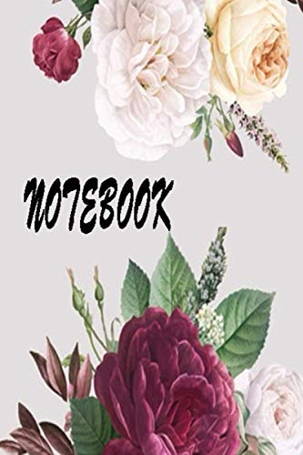 FLOWERS RED AND WITE / NOTEBOOK FOR GIRLS , LOVER GIFT: Lined notebook / diary journal gift 120 pages 6x9 soft cover matte finish