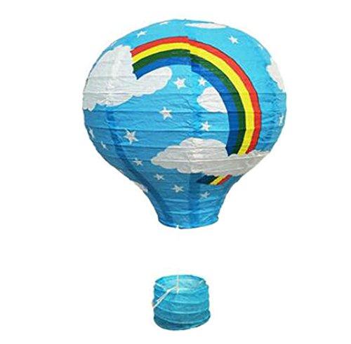 Black Temptation Geburtstagsparty/Weihnachten/Ostern/Mall Dekoration hängen Papier Laterne Heißluftballon 30cm(Blau)