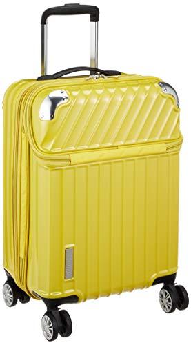 [トラベリスト] スーツケース ジッパー トップオープン モーメント 機内持ち込み可 35L 54 cm 3.4kg イエローカーボン