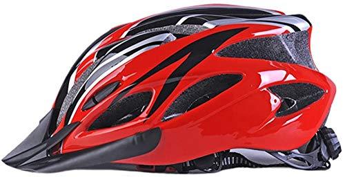 Eghunooye Fahrradhelm Mountainbike Helm für Damen Herren Fahrradfahren Mountain Radhelm mit Abnehmbaren Visier,Verstellbarer Stoßfester Rennradhelm Bike Helmet Outdoors Sports Safety (Rot, One Size)