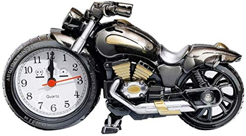Motorcycle Alarm Clock Vintage Non Tick Wake-Up for Home Office Shelf Ornaments Students Adults Fashion Personality Creative Alarm Clock Student Bedside Clock Home Alarm Clock Iteration
