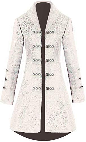 Chaleco estilo steampunk victoriano uniformes formales esmoquin Frock vestido XS_Beige