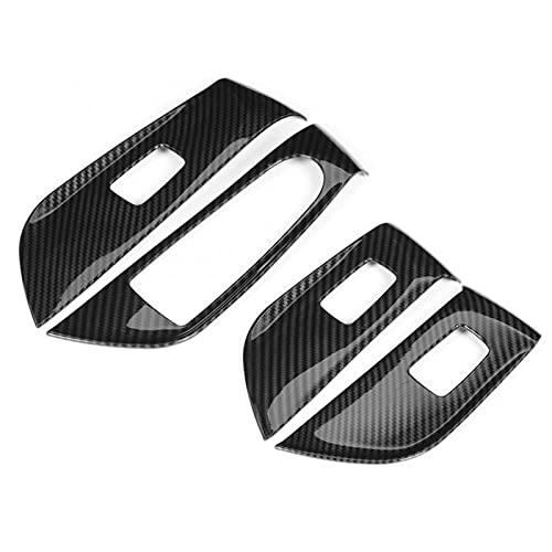 Tira Interior Coche 4 Unids/Set Embellecedor Cubierta Panel Interruptor Elevación Ventana Coche para Mercedes para Benz Clase E W213 2016 2017 2018 2019 Accesorios Estilo Coche Coche Accesorios Deco