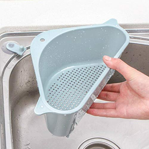 Escurridor Fregadero de Cocina Jabón Esponja Cesta del almacenaje de la Esquina Ventosa colador de Cocina Estante Organizador