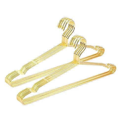 Durevole e salvaspazio Han pratico grucce e pantaloni, 15 pezzi rame oro metallo vestiti camicie gancio con scanalatura, resistente appendiabiti per cappotti, tuta oro (colore oro)