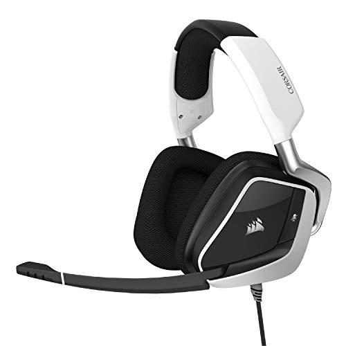 Void RGB Elite USB Premium Gaming Headset with 7.1 Surround Sound, White () - Corsair CA-9011204-NA
