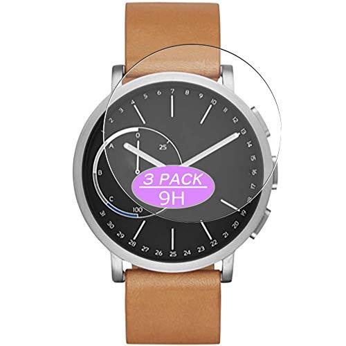 VacFun 3 Piezas Vidrio Templado Protector de Pantalla Compatible con Skagen Hybrid Smartwatch WATCH SIZE 42mm, 9H Cristal Screen Protector Película Protectora Reloj Inteligente