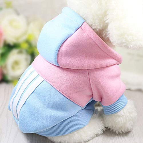 Gamloious Hunde-Bekleidung Winter-Soft Hoodie Chihuahua Kleidung warme Haustier-Hunde-Bekleidung Winter-Hunde-Kleidung für Klein XS Chihuahua Yorkie Mantel